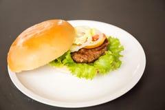 Wieprzowina hamburger Zdjęcia Stock