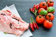 wieprzowina mięsa surowej Zdjęcia Stock
