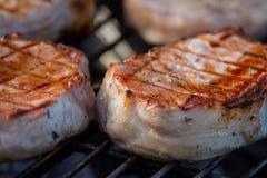 Wieprzowina na grillu Zdjęcia Stock