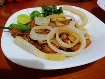 wieprzowina piękny wyśmienicie stek zdjęcia stock