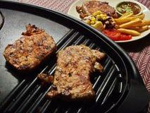 wieprzowina piękny wyśmienicie stek Fotografia Royalty Free