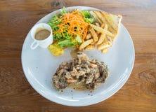wieprzowina piękny wyśmienicie stek obrazy stock