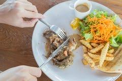 wieprzowina piękny wyśmienicie stek Obraz Royalty Free