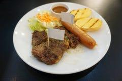 wieprzowina piękny wyśmienicie stek Obrazy Royalty Free