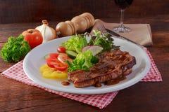 wieprzowina piękny wyśmienicie stek Fotografia Stock
