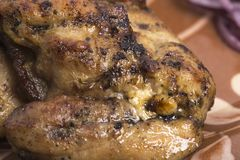 wieprzowina piec na grillu stek Fotografia Stock