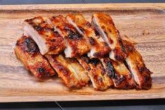 wieprzowina piec na grillu ziobro Obraz Stock