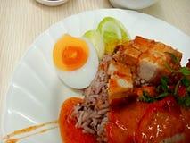 wieprzowina ryż fotografia royalty free