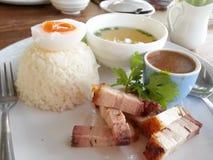 wieprzowina ryż Zdjęcie Royalty Free
