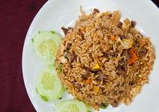 wieprzowina smażący ryż Zdjęcie Stock