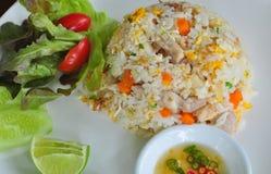 wieprzowina smażący ryż Fotografia Royalty Free