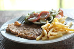 Wieprzowina stek Zdjęcia Royalty Free