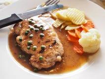 Wieprzowina stek Zdjęcie Stock