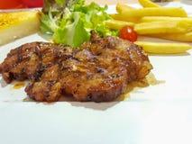 Wieprzowina stek z czarnym pieprzem Obraz Stock