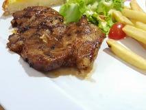 Wieprzowina stek z czarnym pieprzem Zdjęcia Stock