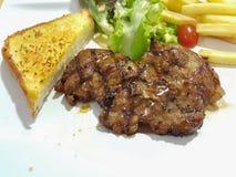 Wieprzowina stek z czarnym pieprzem Zdjęcie Royalty Free