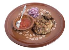 Wieprzowina stek z pomidorowym kumberlandem Obraz Royalty Free