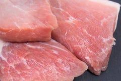 Wieprzowina surowy mięso Fotografia Royalty Free