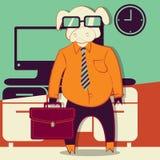 Wieprzowiny biurowa ilustracyjna kreskówka Fotografia Stock