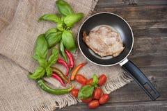 Wieprzowiny mięso piec na grillu fotografia royalty free