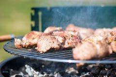 Wieprzowiny mięsa kotlecik Na grillu Gril Obraz Royalty Free