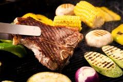 Wieprzowiny piec na grillu mięso Obrazy Royalty Free