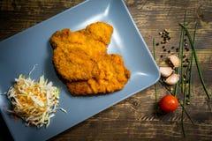 Wieprzowiny Schnitzel Zdjęcie Stock