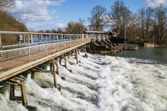 Wier, Abingdon, Oxfordshire. Stock Images