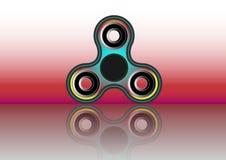 Wiercipięta kądziołka ikona - bawi się dla stres ulgi i ulepszenia okres koncentracji Wypełniający multicolor i czarny kolor Fotografia Stock