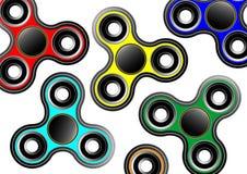 Wiercipięta kądziołka ikony tło - bawi się dla stres ulgi i ulepszenia okres koncentracji Wypełniający multicolor i czarny kolor  Zdjęcia Stock