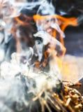 Wierook van de rook van de kruidstok als Shamanic-traditie stock foto's
