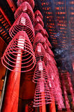 Wierookrollen in Guandi-Tempel Stock Foto