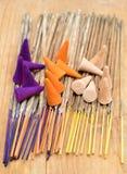 Wierookstokken en kegels Royalty-vrije Stock Foto's