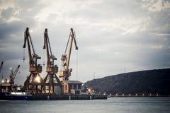 wiertnica port Zdjęcie Royalty Free