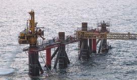 Wiertnicza kurtki noga na morzu Zdjęcia Stock