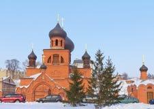 wierzącego pokrovsky katedralny stary Fotografia Royalty Free