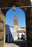Wierza święty Michael, Jerez De Los Caballeros, prowincja Badajoz, Hiszpania zdjęcia stock