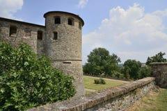 Wierza Agazzano kasztel, Piacenza wzgórza Obrazy Royalty Free