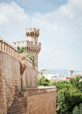Wierza Almudaina pałac Zdjęcia Stock