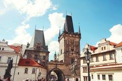 Wierza Charles most w Praga, republika czech obrazy royalty free