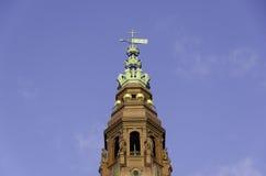 Wierza Christiansborg kasztel Duński parlamentu budynek Fotografia Royalty Free