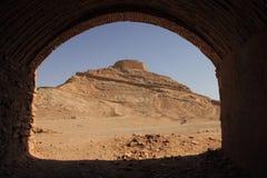 Wierza cisza blisko Yazd, Iran obraz stock
