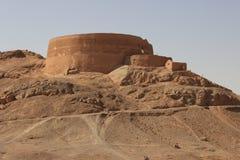 Wierza cisza w Irańskiej prowinci Yazd obrazy stock