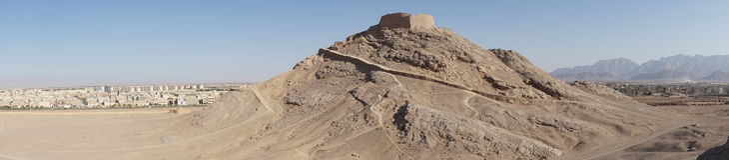 Wierza cisza, Yazd, Iran, Azja zdjęcia royalty free