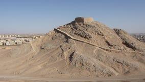 Wierza cisza, Yazd, Iran, Azja zdjęcie stock