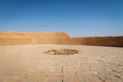 Wierza cisza, zoroastrian religijny miejsce w Yazd, Iran obraz royalty free
