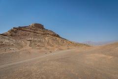 Wierza cisza, zoroastrian religijny miejsce w Yazd, Iran obrazy royalty free