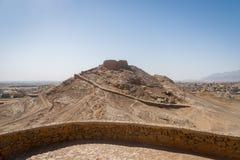 Wierza cisza, zoroastrian religijny miejsce w Yazd, Iran obraz stock