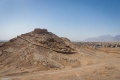 Wierza cisza, zoroastrian religijny miejsce w Yazd, Iran zdjęcie royalty free