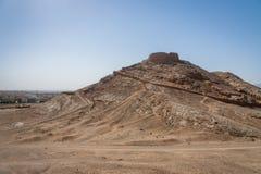 Wierza cisza, zoroastrian religijny miejsce w Yazd, Iran fotografia royalty free